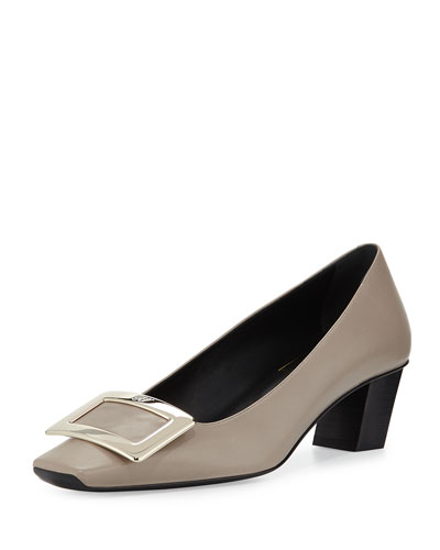 Decollete Belle Vivier Patent Pump, Stone