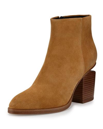 Gabi Suede Ankle Boot, Sahara