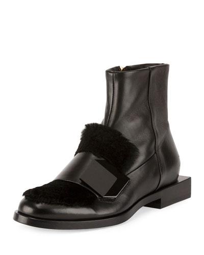 Hardy Dandy Fur-Trim Boot, Black