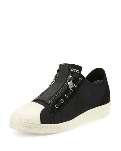 Super Zip Low-Top Sneaker, Black/Ecru