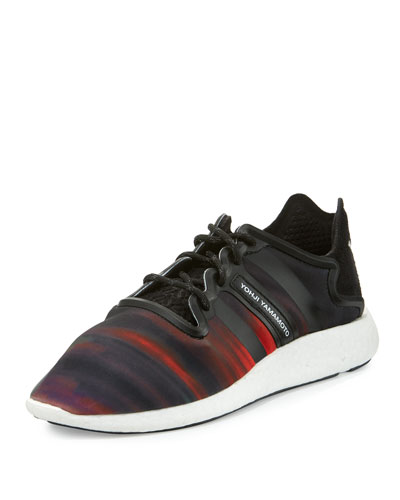Yohji Run Trainer Sneaker, Black/White/Multi