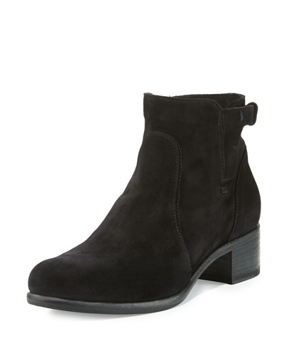 Viola Suede Ankle Boot, Black