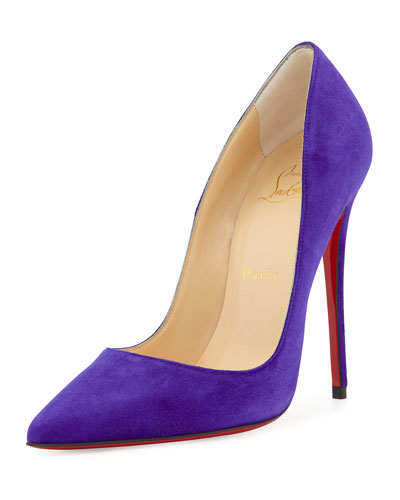 So Kate Suede Red Sole Pump, Purple Pop