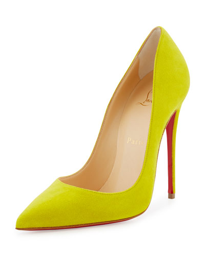 So Kate Suede Red Sole Pump, Cubiste Yellow