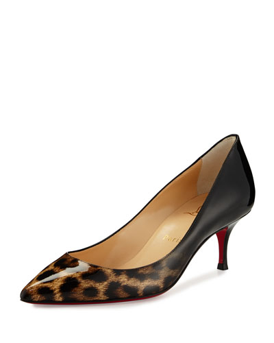 Pigalle Follies Degrade Red Sole Pump, Leopard