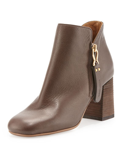 Jamie Side-Zip Ankle Boot, Chocolate