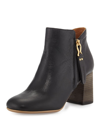 Jamie Side-Zip Ankle Boot, Black