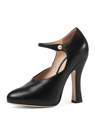 Lesley Mary Jane Pump, Black