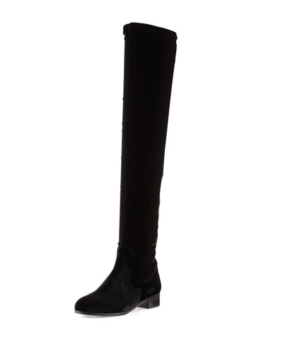 All I Need Stretch-Fabric Boot, Black