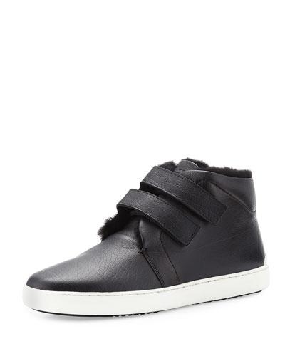 Kent Shearling-Lined Sneaker, Black