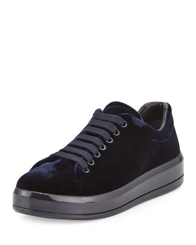 Velvet Microsole Low-Top Sneaker