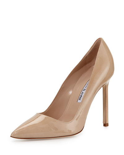 BB Patent 105mm Pointed-Toe Pump, Beige