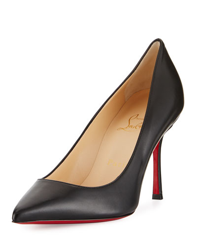 Decoltish 85mm Red Sole Pump, Black