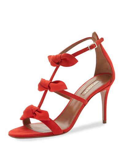 St. Tropez Bow 85mm Suede Sandal