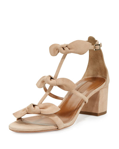 St. Tropez Bow 50mm Sandal, Biscotto