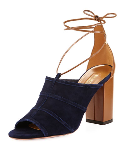 Very Eugenie Suede Block-Heel Sandal
