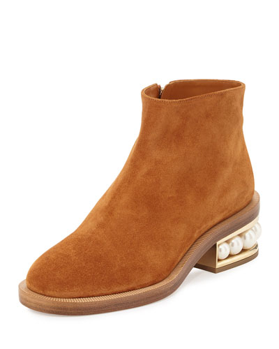 Casati Pearly Ankle Boot, Tan