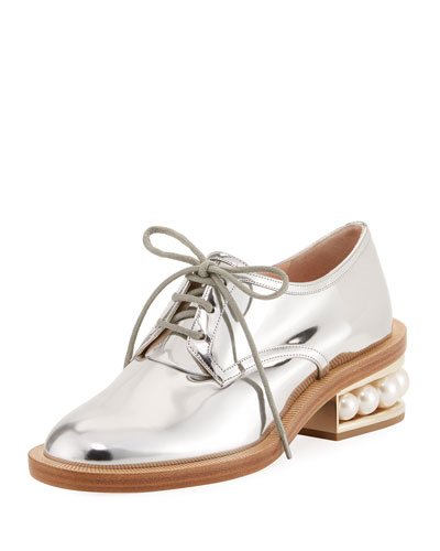 Casati Pearly Derby Oxford, Silver