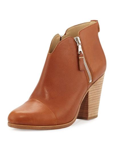 Margot Side-Zip Ankle Boot, Tan