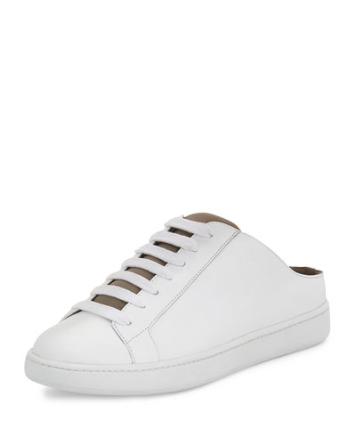 Varley Lace-Up Mule Sneaker, White/Woodsmoke