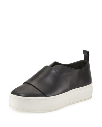 Wallace Leather Platform Skate Sneaker