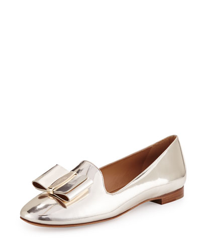 Metallic Leather Loafer, Gold