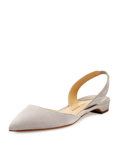Rhea Suede d'Orsay Slingback Flat, Pavillion Gray