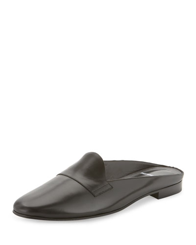 Jacno Leather Loafer Mule, Black
