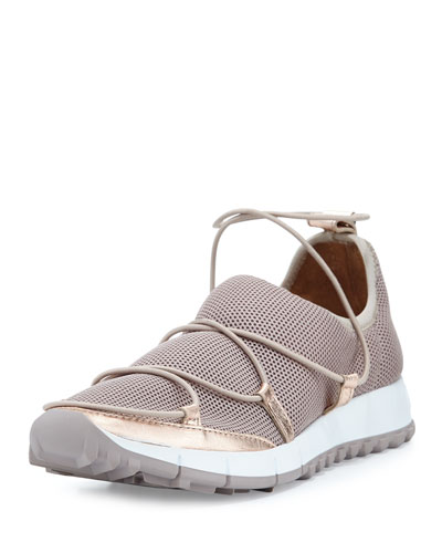 Andrea Strappy Mesh Sneaker, Tea Rose