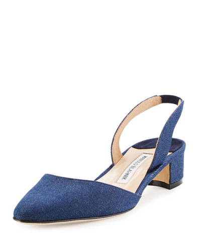 Aspro Denim Slingback Pump