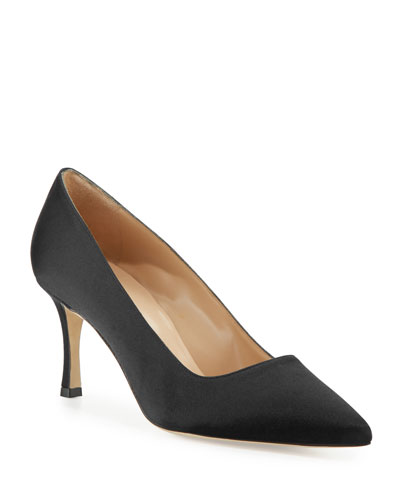 BB Satin 70mm Pump, Navy