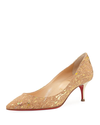 Pigalle Follies Cork Red Sole Pump, Multi