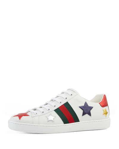 New Ace Star Leather Sneaker, White