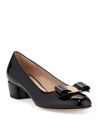 Vara 1 Patent Bow Pumps, Nero