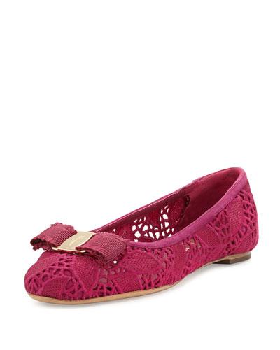 Lace Bow Ballerina Flat