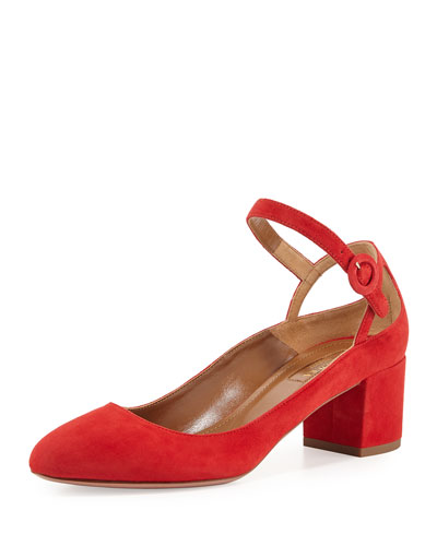 Sweet Thing Suede 50mm Pump, Red
