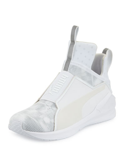 Fierce Mesh High-Top Sneaker, White
