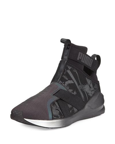 Fierce Knit High-Top Sneaker, Black