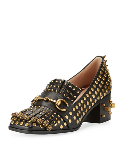 Polly Studded Leather 55mm Loafer