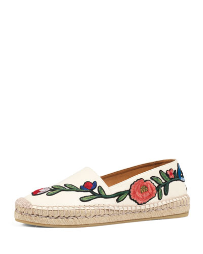 Pilar Embroidered Espadrille Flat