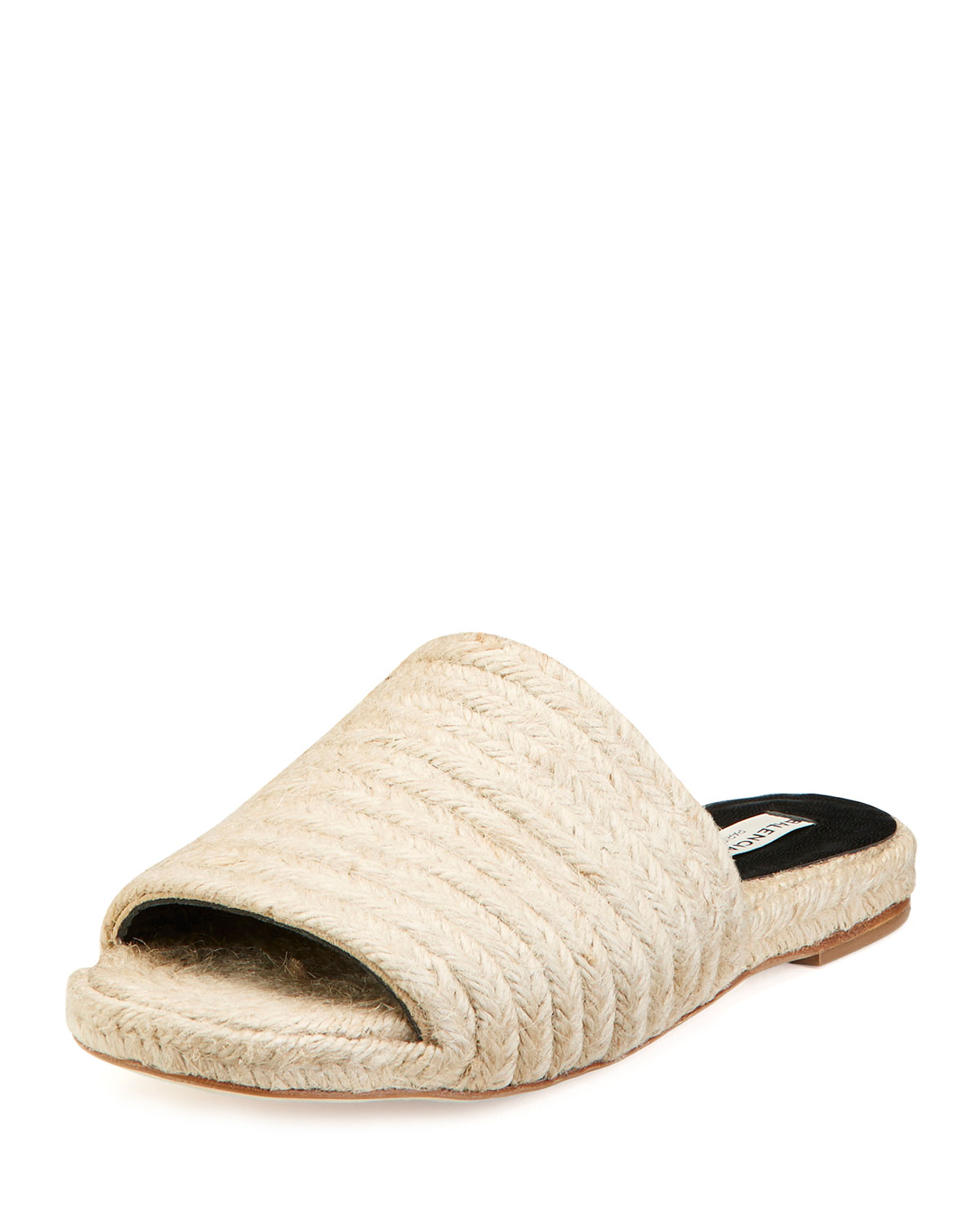 Braided Jute Slide Sandal, Beige