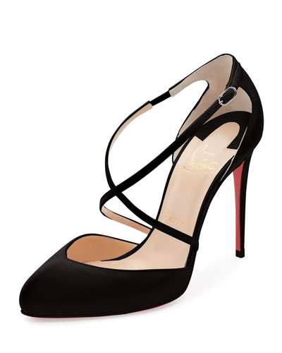 Crossbreche Leather Red Sole Pump, Latte