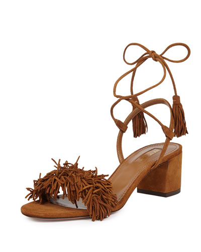 Wild Thing Fringe City Sandal, Cognac