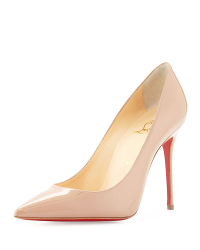 Decollete Patent Leather Red Sole Pump