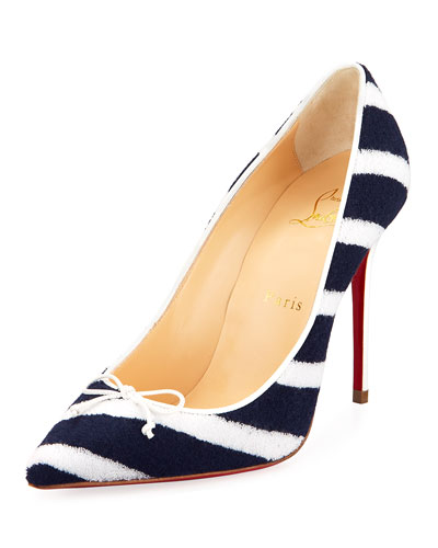 Decol Spa Striped Terry Red Sole Pump