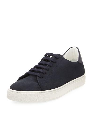 Wink Nubuck Leather Tennis Sneaker, Blue