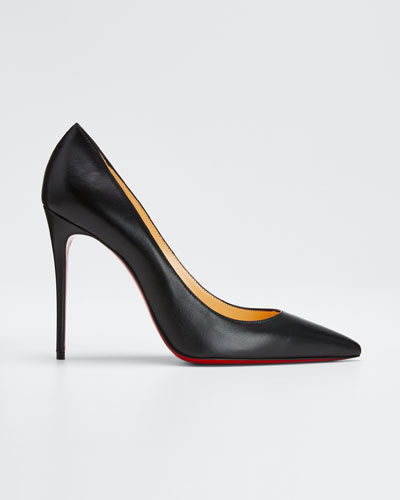 Decollette Red Sole Pumps, Black