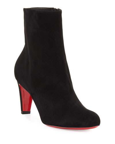 Top 70mm Suede Red Sole Bootie