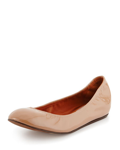 Patent Leather Ballerina Flat