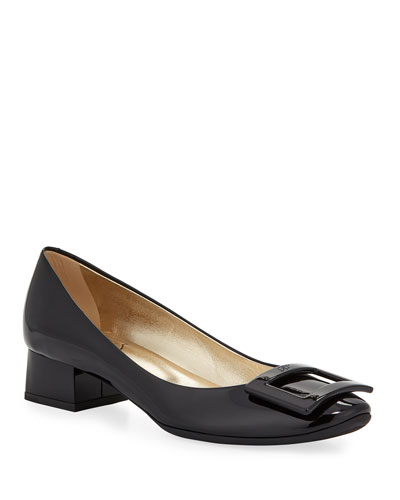 Belle de Nuit Rubber-Sole Pumps, Black